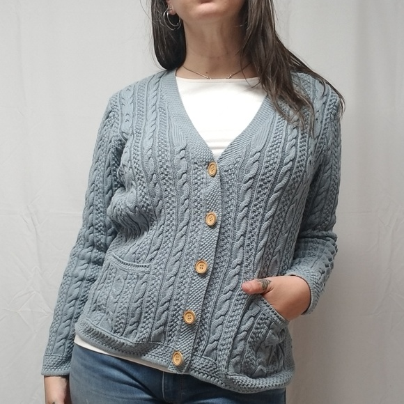 b831bf8f09 L.L. Bean Sweaters - LL BEAN Cotton Cable Knit Cardigan Sweater